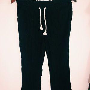 Long, Black Linen Pants